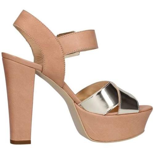 Emporio Di Parma 625 Sandale Femme Cuir / platine Cuir / platine - Chaussures Sandale Femme