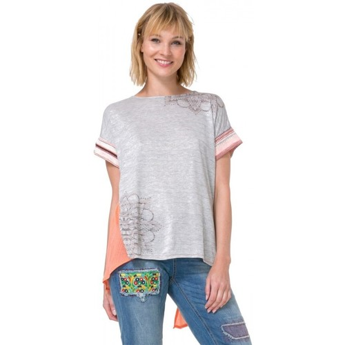 Vêtements Femme Tops / Blouses Desigual Tee-Shirt Creta 73T2YA9 Gris (sp) Multicolore