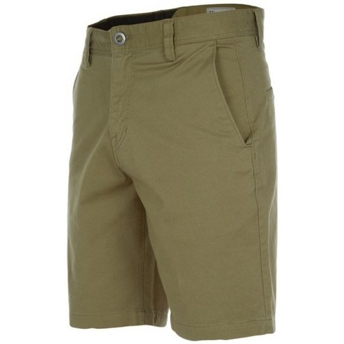 Vêtements Homme Shorts / Bermudas Volcom Short  Frickin Slim Chino - Light Army Vert