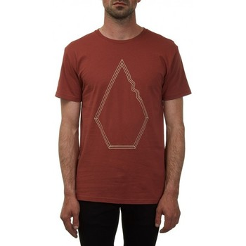 Vêtements Homme T-shirts manches courtes Volcom T-Shirt  Drew Bsc - Dark Clay Rouge