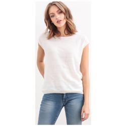 Vêtements Femme Débardeurs / T-shirts sans manche Le Temps des Cerises Top Amedee Blanc 1