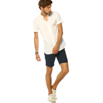 Vêtements Femme Chemises manches courtes Jack & Jones Chemise HOMME - SAGO SHIRT SS UK _WHITE/SLIM FIT Blanc