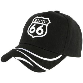 Accessoires textile Homme Casquettes Divers Casquette Baseball Route 66 Noire et blanche Noir
