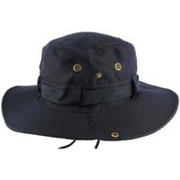 Accessoires textile Homme Chapeaux Nyls Création Chapeau Bob safari bleu marine Azzy Bleu