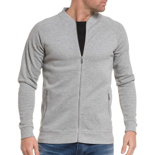 Vêtements Homme Sweats Jack & Jones Gilet sweat zippé gris piqué gris