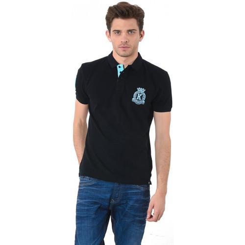 Vêtements Homme Polos manches courtes Kaporal Polo Titus Noir Noir