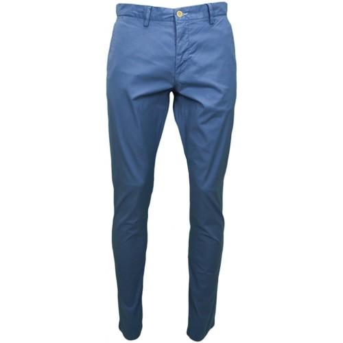 Vêtements Homme Chinos / Carrots Gant Chino  bleu pour homme longueur 34 Bleu
