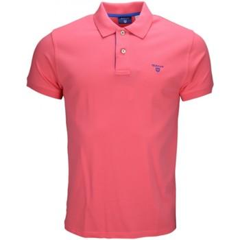 Vêtements Homme Polos manches courtes Gant Polo  Contrasté en piqué orange pour homme Orange