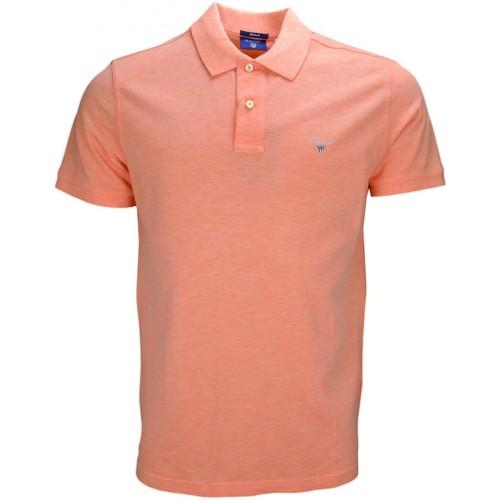 Vêtements Homme Polos manches courtes Gant Polo basique  orange pastel pour homme Orange
