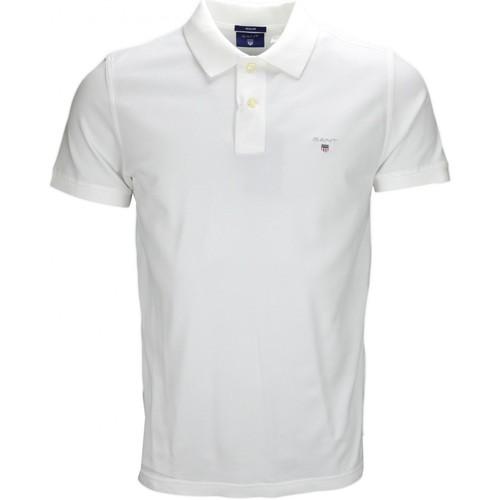 Vêtements Homme Polos manches courtes Gant Polo  basique Rugger blanc pour homme Blanc