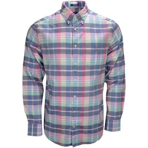 Vêtements Homme Chemises manches longues Gant Chemise  Madras multicolore pour homme Multicolore