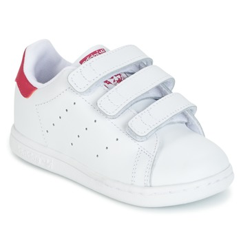 c1925c1b54 Chaussures Fille Baskets basses adidas Originals STAN SMITH CF I Blanc /  rose