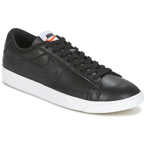 Chaussures Femme Baskets basses Nike BLAZER LOW LEATHER W Noir