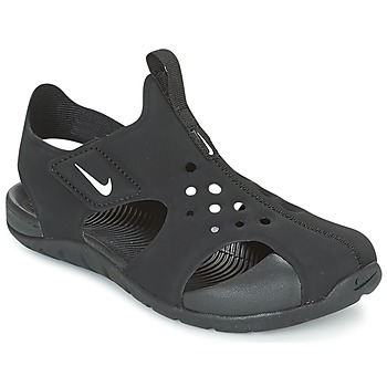 Chaussures Enfant Claquettes Nike SUNRAY PROTECT 2 CADET Noir / Blanc