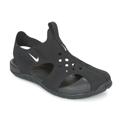 6ea2423994ecd Chaussures Garçon Sandales et Nu-pieds Nike SUNRAY PROTECT 2 CADET Noir    Blanc
