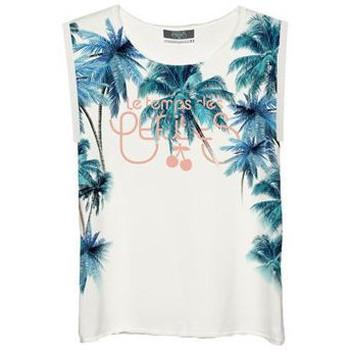 Vêtements Femme T-shirts manches courtes Le Temps des Cerises T-Shirt Femme Bluepalms Blanc Blanc
