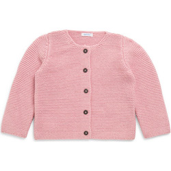 Vêtements Fille Pulls Bout'chou Cardigan point mousse rosemoyen