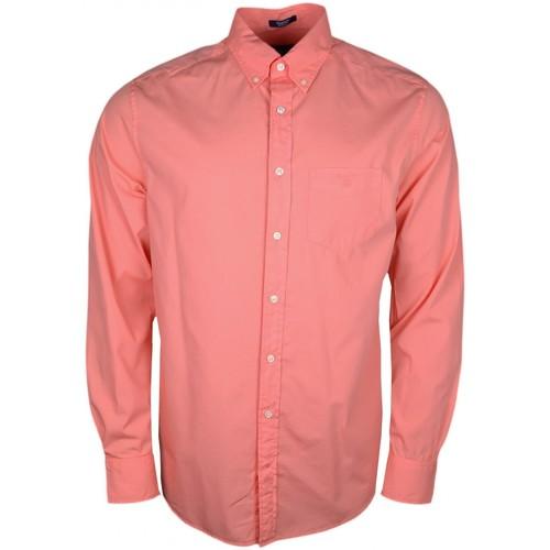 Vêtements Homme Chemises manches longues Gant Chemise  poplin orange pour homme Orange