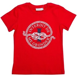Vêtements Garçon T-shirts manches courtes Interdit De Me Gronder Cordage Rouge