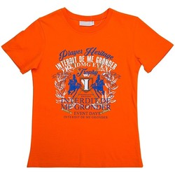 Vêtements Garçon T-shirts manches courtes Interdit De Me Gronder Trophy Orange