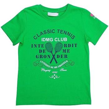 Vêtements Garçon T-shirts manches courtes Interdit De Me Gronder Wimbledon Vert
