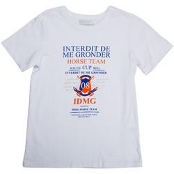 Vêtements Garçon T-shirts manches courtes Interdit De Me Gronder Team Blanc