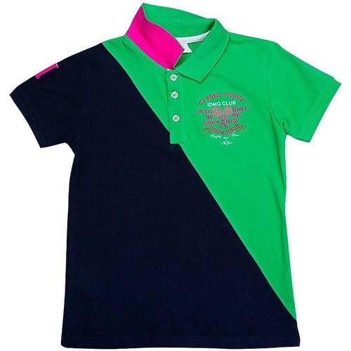 Vêtements Garçon Polos manches courtes Interdit De Me Gronder Match Vert