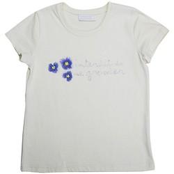 Vêtements Fille T-shirts manches courtes Interdit De Me Gronder Etoile Blanc