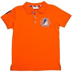Vêtements Garçon Polos manches courtes Interdit De Me Gronder Numéro 8 Orange