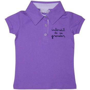 Vêtements Fille Polos manches courtes Interdit De Me Gronder Salsa Violet
