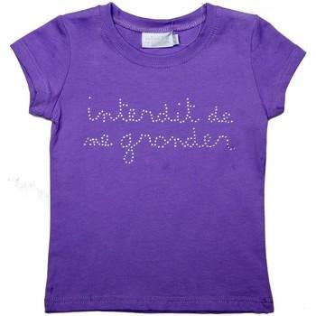 Vêtements Fille T-shirts manches courtes Interdit De Me Gronder Lolita Violet