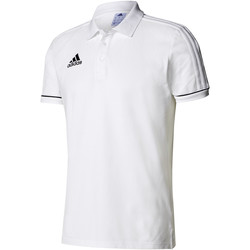 Vêtements Homme Polos manches courtes adidas Performance Tiro17 Cotton Polo White