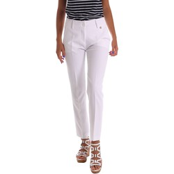 Vêtements Femme Chinos / Carrots Y Not? 17PEY112 Pantalon Femmes Blanc Blanc