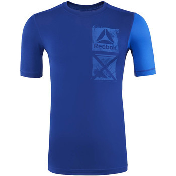 Vêtements Homme T-shirts manches courtes Reebok Sport ACTIVCHILL Graphic Compression Tee Blue
