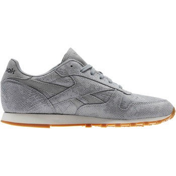 Chaussures Femme Baskets basses Reebok Classic Classic Leather Clean Exotics Gris / Blanc / Marron