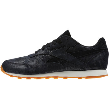 Chaussures Femme Baskets basses Reebok Classic Classic Leather Clean Exotics Noir / Blanc / Marron