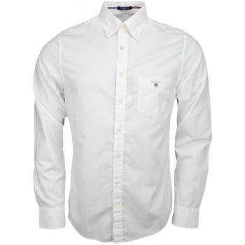 Vêtements Homme Chemises manches longues Gant Chemise  à pois blanche et rose pour homme Blanc