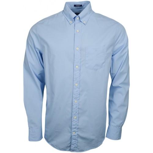 Vêtements Homme Chemises manches longues Gant Chemise basique  bleu pour homme Bleu