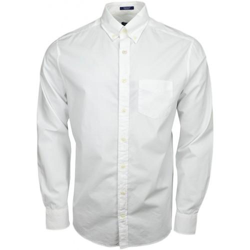 Vêtements Homme Chemises manches longues Gant Chemise basique  blanche pour homme Blanc