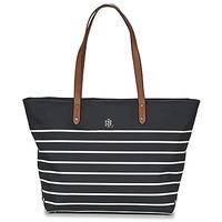 Sacs Femme Cabas / Sacs shopping Ralph Lauren BAINBRIDGE TOTE Noir / Blanc