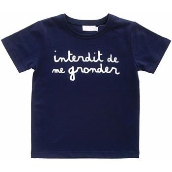 Vêtements Garçon T-shirts manches courtes Interdit De Me Gronder L'Interdit Blanc