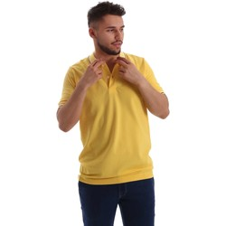 Vêtements Homme Polos manches courtes Key Up 2Q70G 0001 Polo Man Jaune Jaune