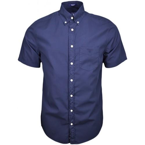 Vêtements Homme Chemises manches courtes Gant Chemise manches courtes  bleu marine pour homme Bleu