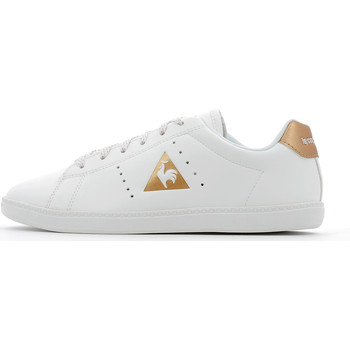 Chaussures Fille Baskets basses Le Coq Sportif Courtone Gs Lea Optical White