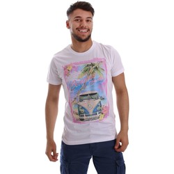 Vêtements Homme T-shirts manches courtes Key Up 223SG 0001 T-shirt Man Bianco Bianco