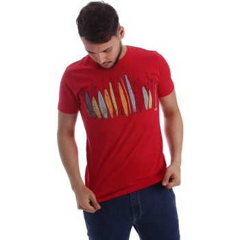 Vêtements Homme T-shirts manches courtes Key Up 216SG 0001 T-shirt Man Rouge Rouge