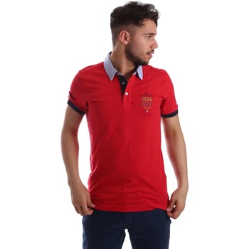 Vêtements Homme Polos manches courtes Key Up 263RG 0001 Polo Man Rouge Rouge