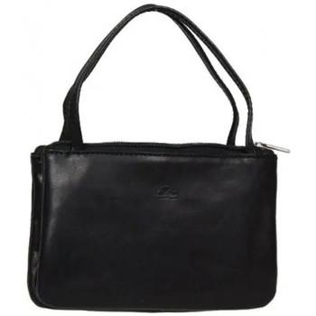 Sacs Femme Porte-monnaie Tony Perotti Porte monnaie femme mini sac cuir végétal fermoir vintage Noir