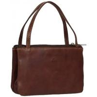Sacs Femme Porte-monnaie Tony Perotti Porte monnaie femme mini sac cuir végétal fermoir vintage Marron