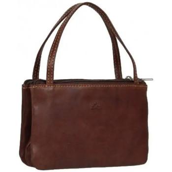 Sacs Femme Porte-monnaie Tony Perotti Porte monnaie mini sac cuir fermoir vintage Marron